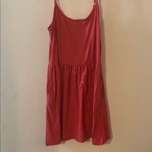 Red spaghetti strap dress